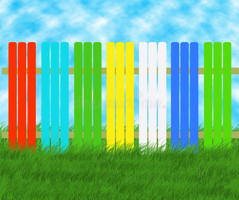 Download Colored spring fence stock illustration. Illustration of illustration - 23903127