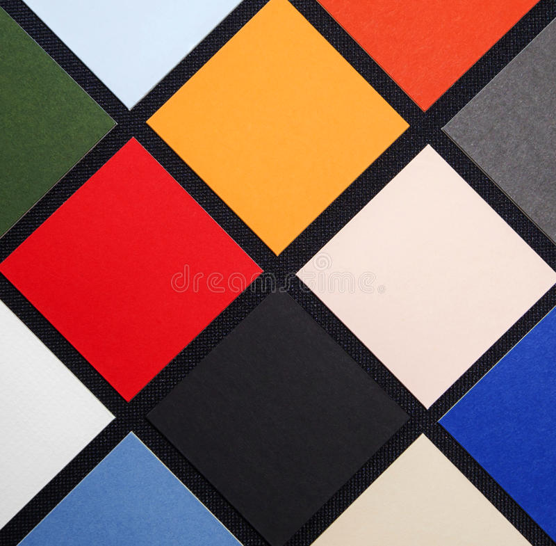 Colored Square Pattern / Tiles - Background Texture - Abstract. Colored Square Pattern or tiles as a background texture abstract, like modern art stock image