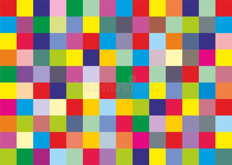 Colored squares background. Abstract wallpaper vector illustration