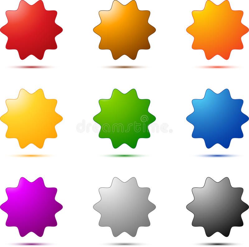 Free Colored Star Set Royalty Free Stock Photos - 21273748