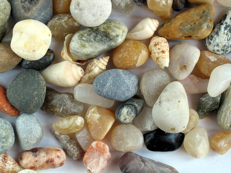 Colored stones background stock images