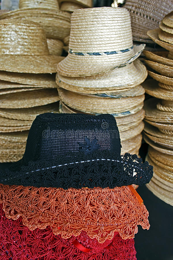 Download Colored straw hats stock image. Image of classic, straw - 27323301