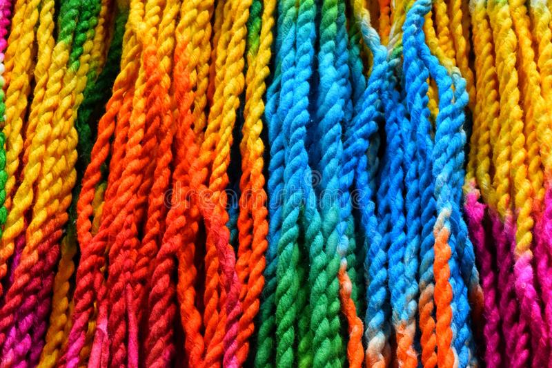 Colored string royalty free stock image