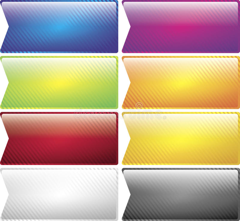 Colored Striped Buttons Collection stock image