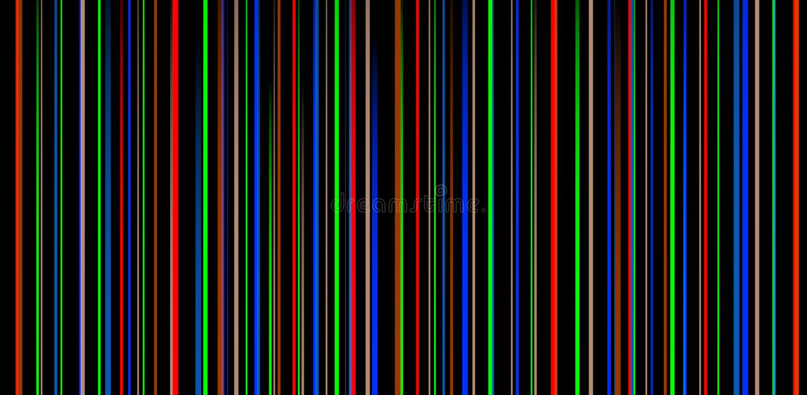 Colored stripes on a black background stock photo