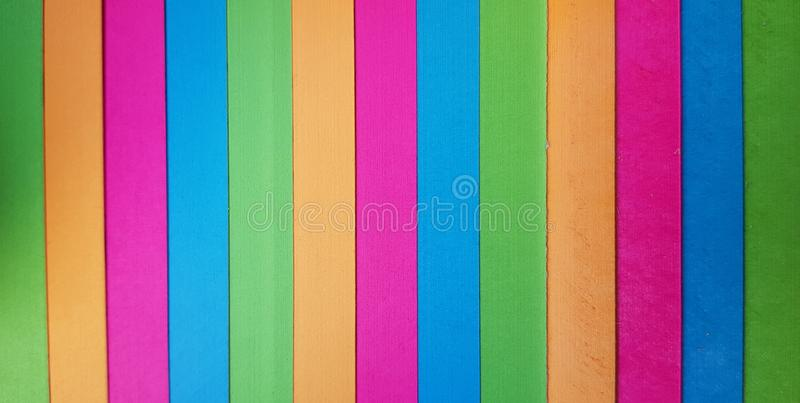 Colored stripes. Colorful striped abstract background. Vertical rainbow stripe pattern. stock photography
