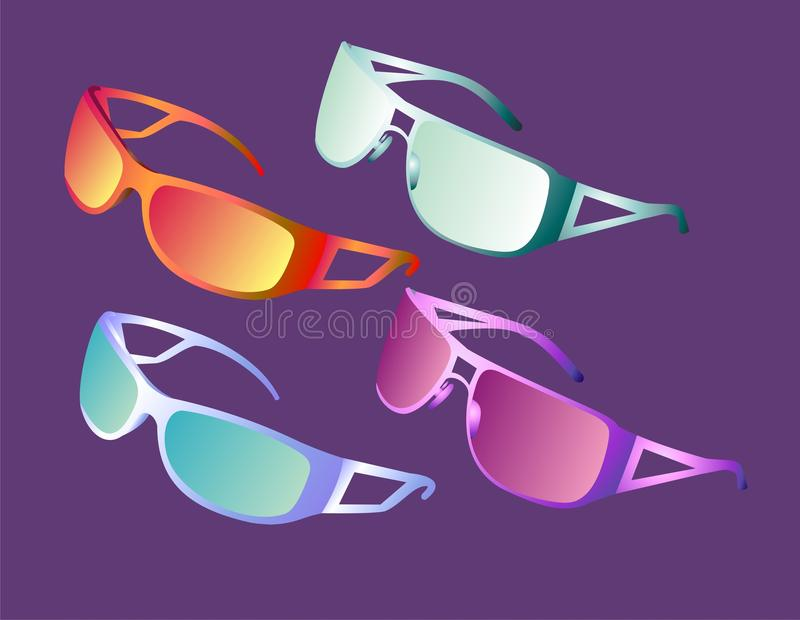 Download Colored sunglasses stock vector. Image of pair, protective - 13505544
