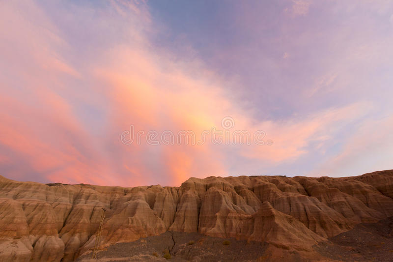 Colored Sunset In Rodeo And Geological Rock Formation