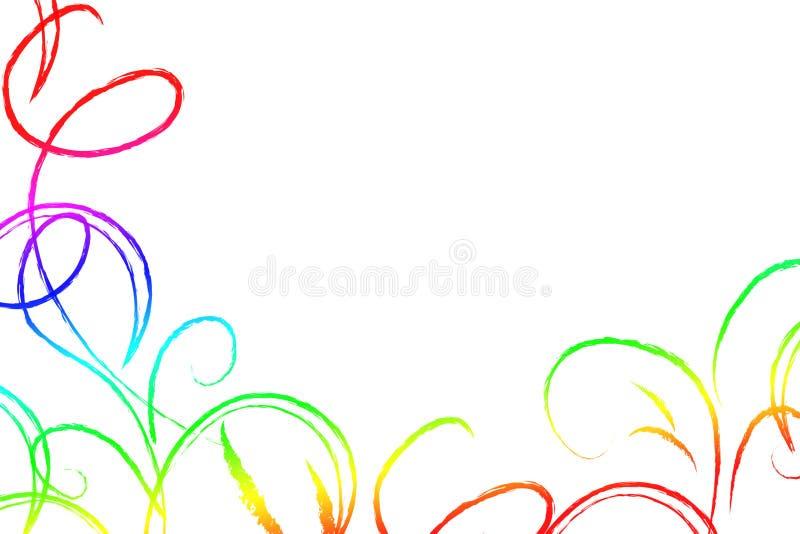 Colored swirls stock image
