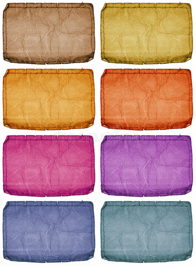 Colored Tags. This is a set of various colored vintage jean tags vector illustration