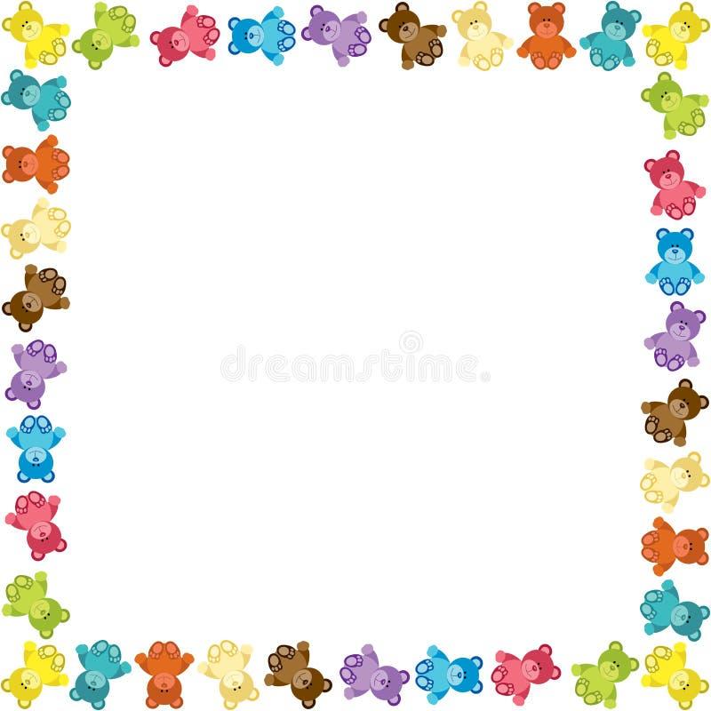 Colored Teddy Bear Frame stock vector. Illustration of clip - 51843255