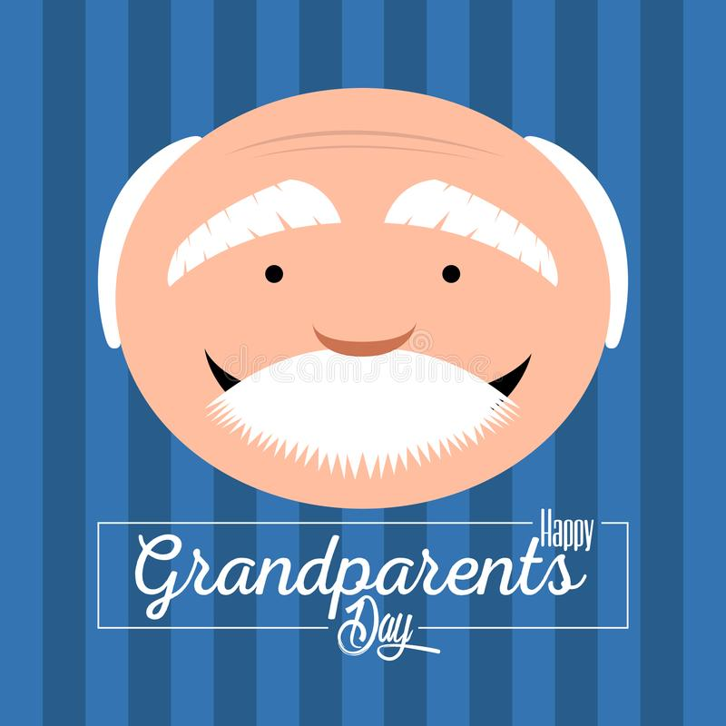 Happy grandparents day. Colored textured grandparents day invitational card, Vector illustration vector illustration
