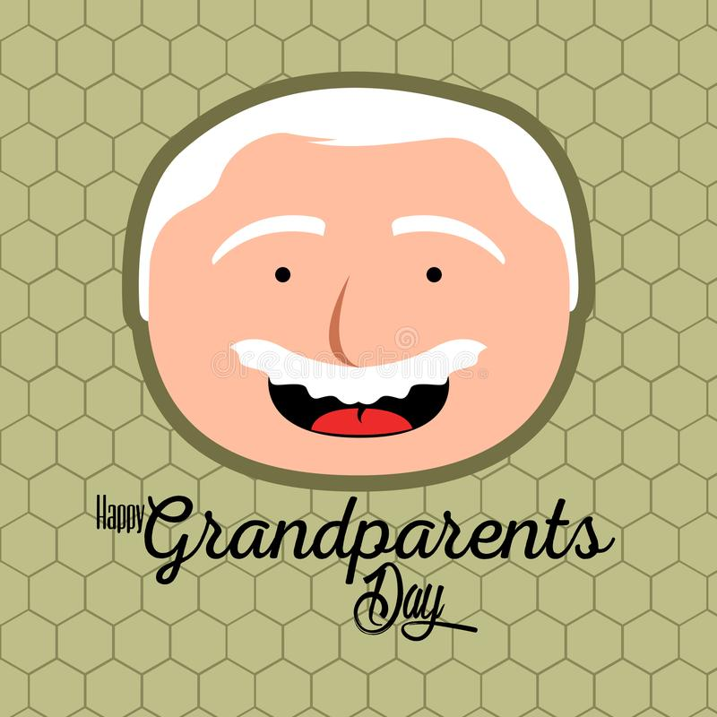 Happy grandparents day. Colored textured grandparents day invitational card, Vector illustration stock illustration
