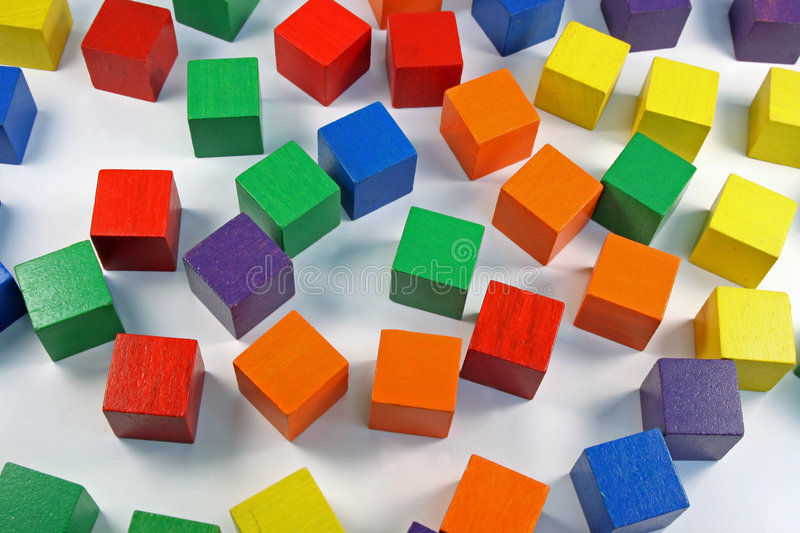 Colored therapy blocks background royalty free stock images