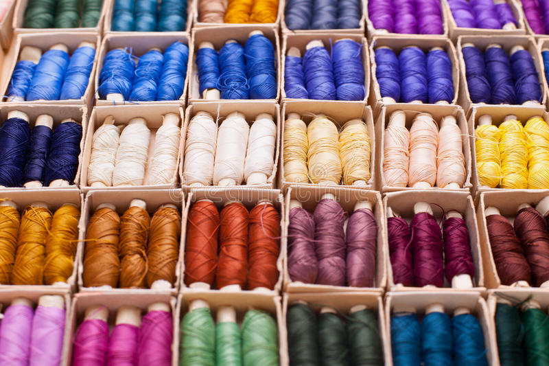 Download Colored threads stock photo. Image of detail, fiber, cotton - 21463070