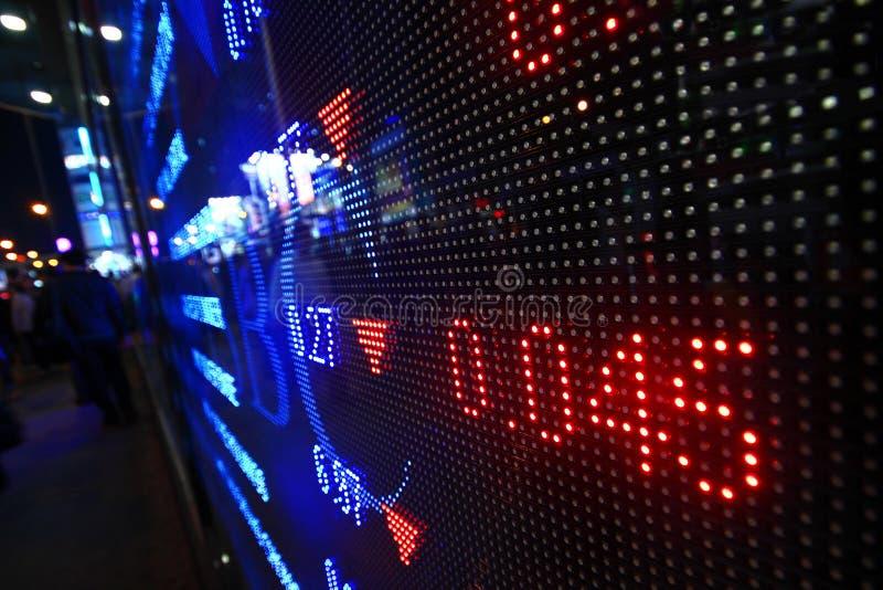 Colored ticker board stock photos