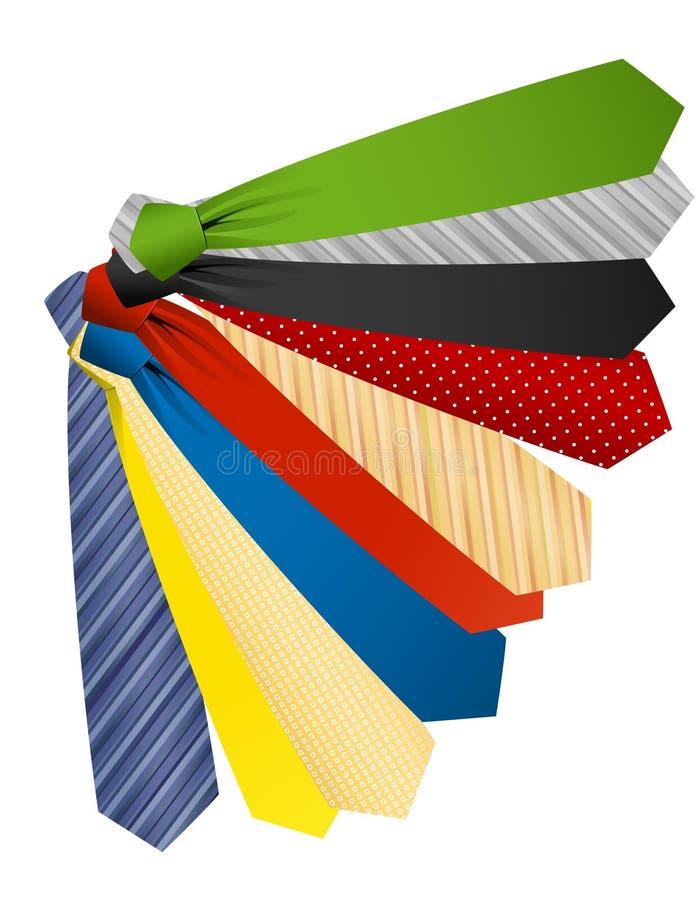 Download Colored ties stock vector. Image of tied, cravat, blue - 13464901