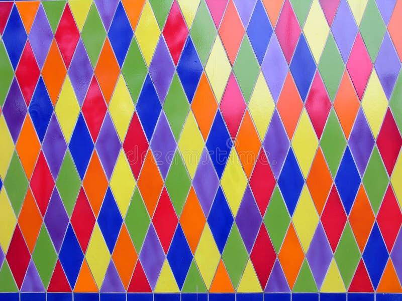Colored tiles stock photos