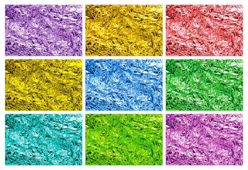 Download Colored tin foil textures stock photo. Image of foil - 13687544