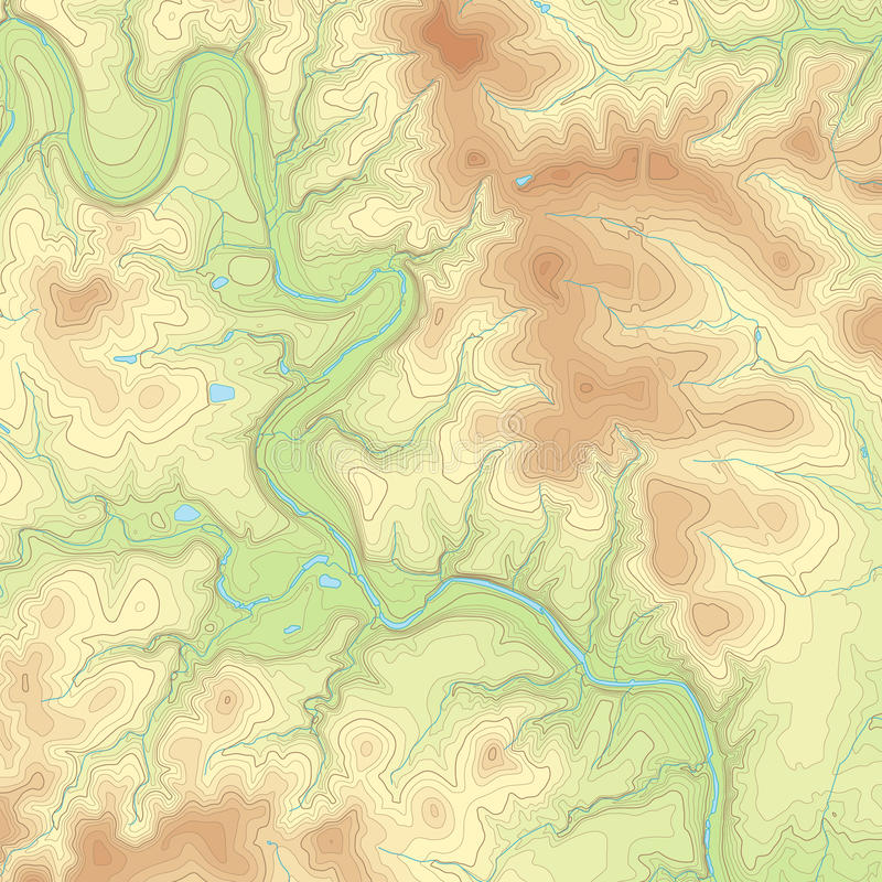 Free Colored Topographic Map Stock Images - 44801244