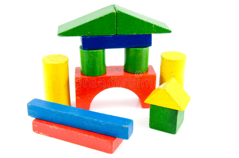 Download Colored toy blocks stock photo. Image of wooden, colored - 12794782