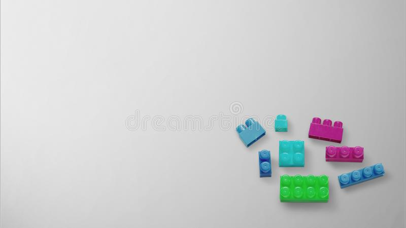 Colored toy bricks with place for your content. royalty free stock photos