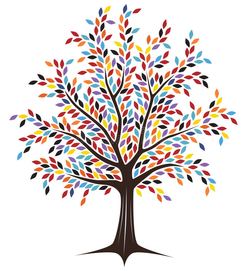 Colored tree vector illustration