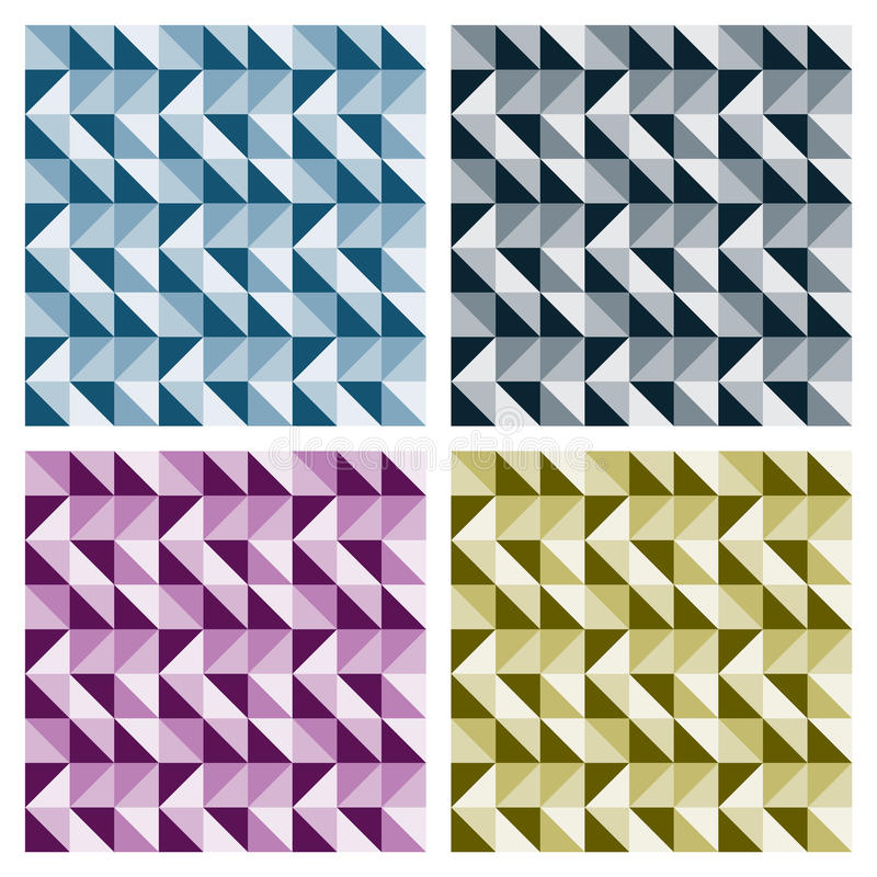 Colored Triangle Patterns royalty free stock photos
