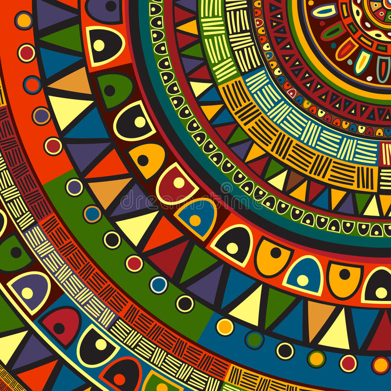 Colored tribal design stock illustration