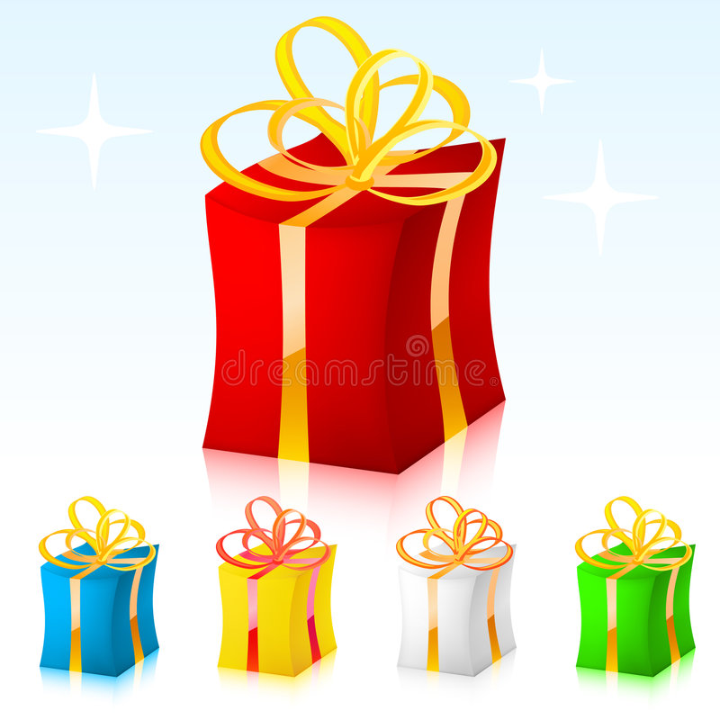 Colored vector gift royalty free illustration