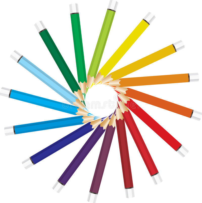 Free Colored Vector Pencils Royalty Free Stock Photos - 2681518