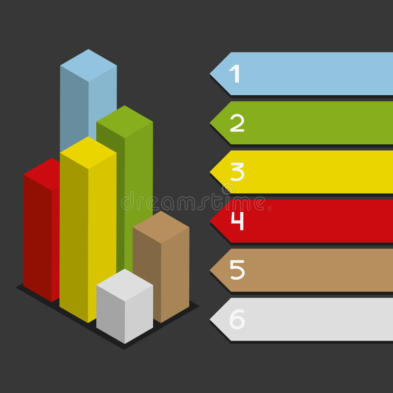 Colored vertical infographic. Colored vertical infographic with space for text stock illustration