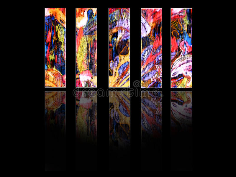 Colored vertical panels royalty free stock images