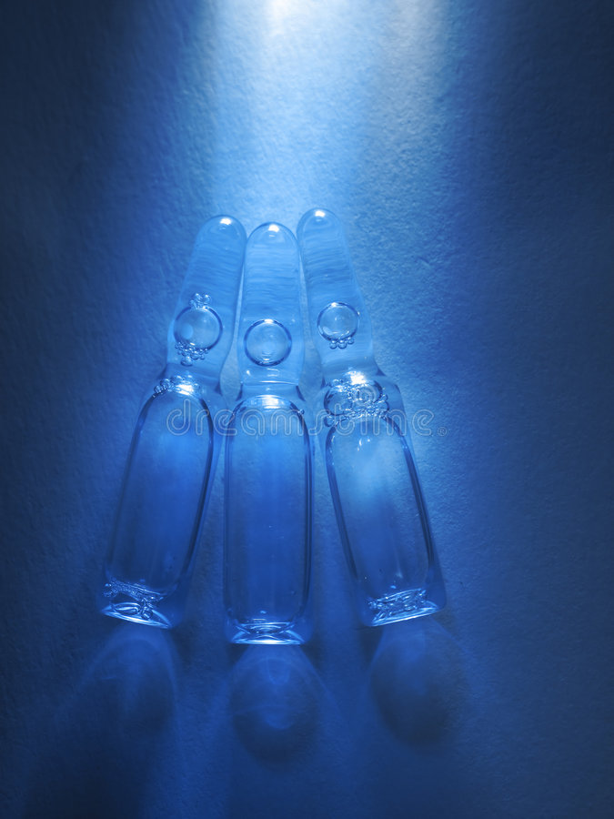 Colored Vials Stock Photography