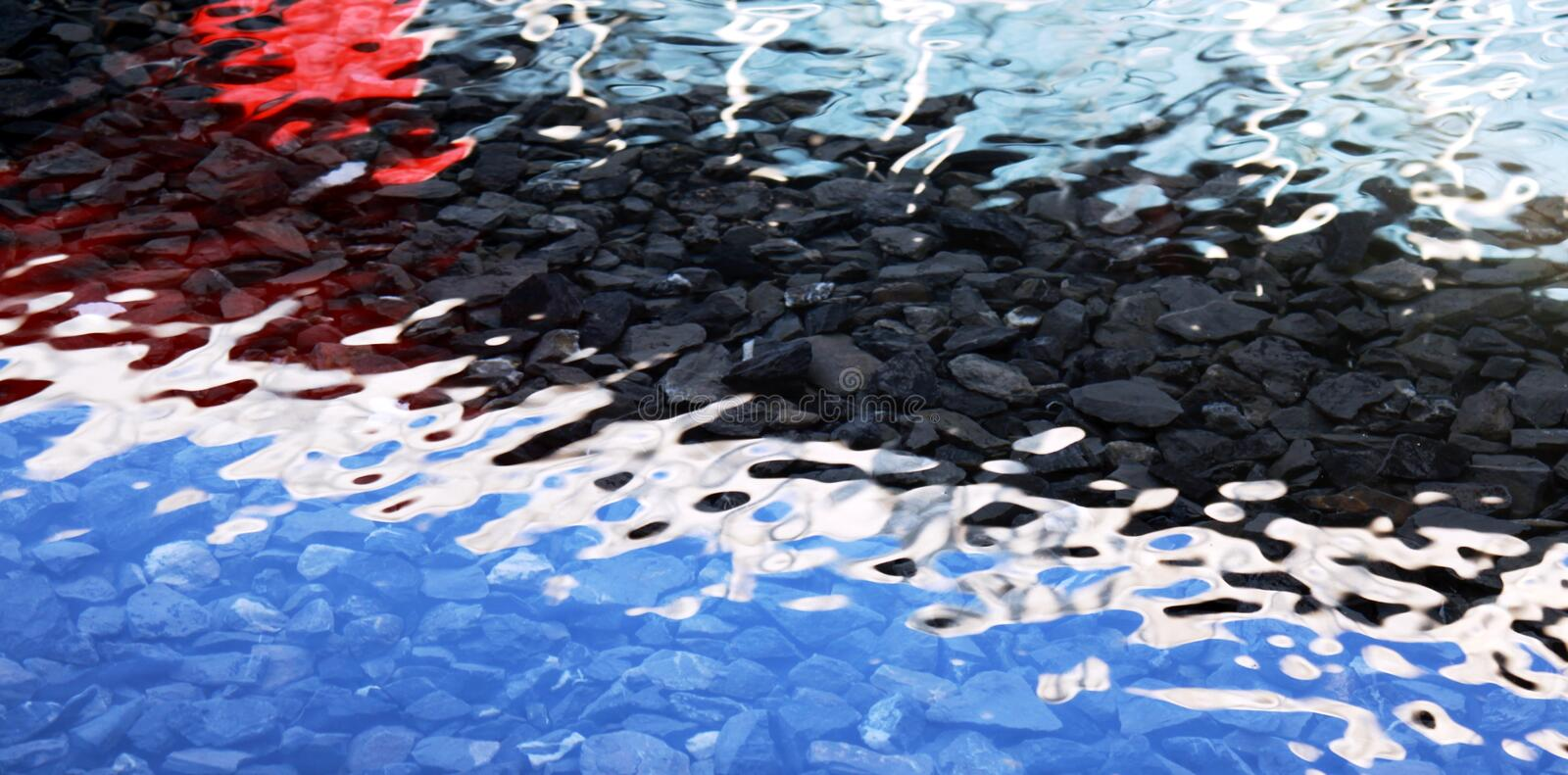 Download Colored water background stock image. Image of reflection - 12710017