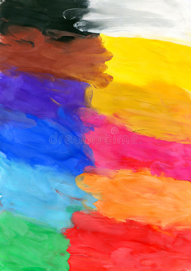 Colored Watercolor Brush Strokes Royalty Free Stock Photos