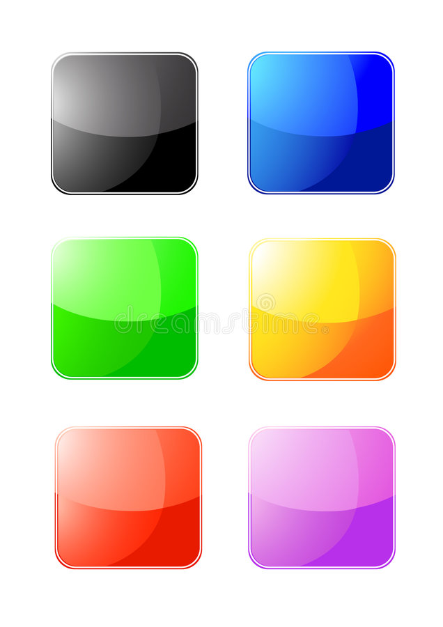 Download Colored web buttons stock vector. Illustration of decoration - 8984974