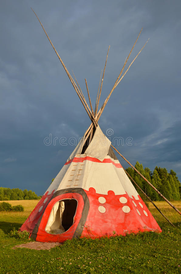 Colored wigwam royalty free stock photos