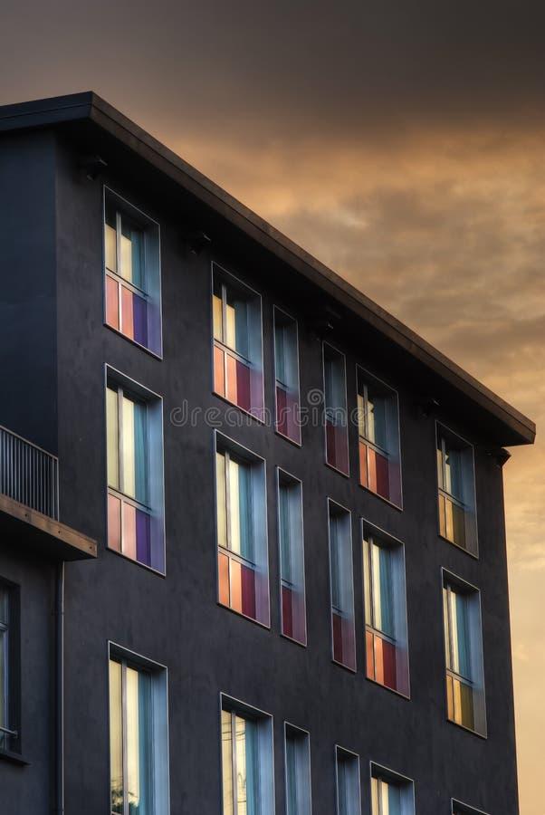 Colored window stock image