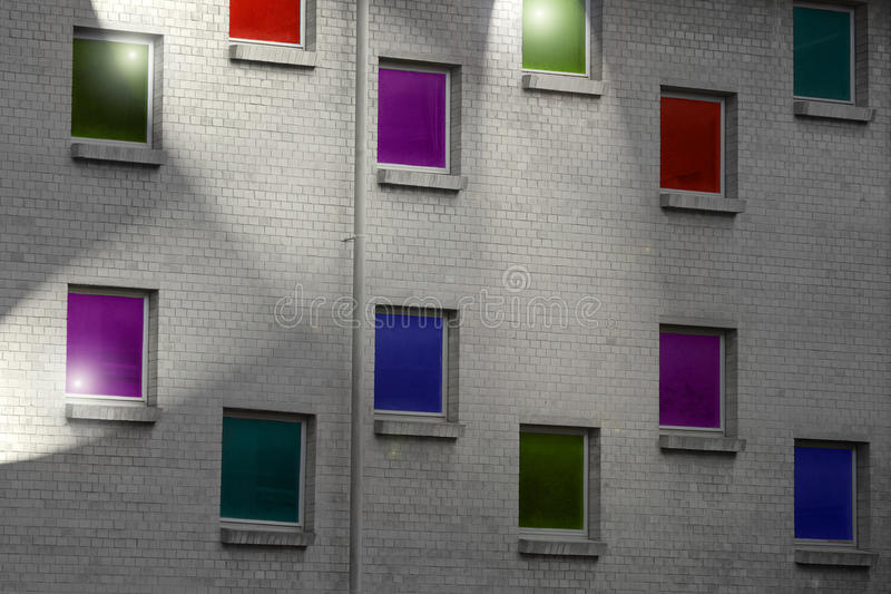Colored windows stock photography