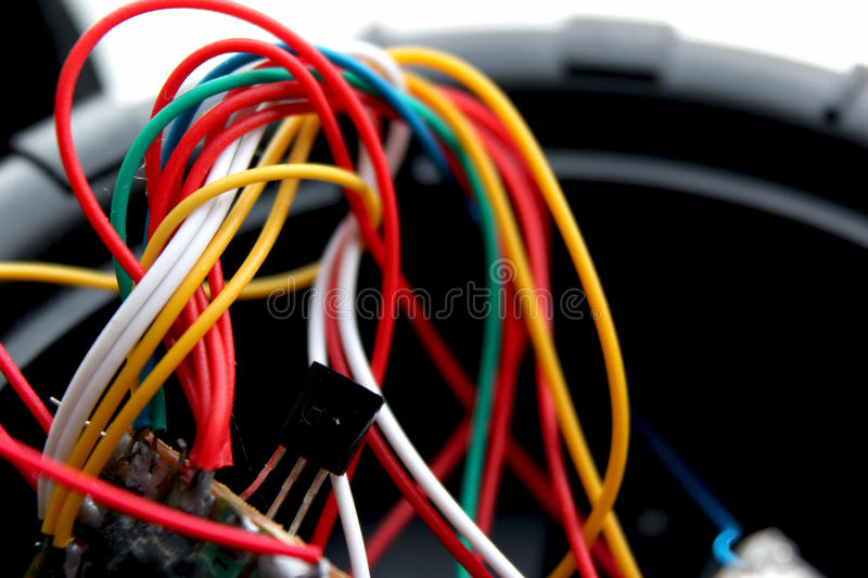 Colored wires. royalty free stock photos