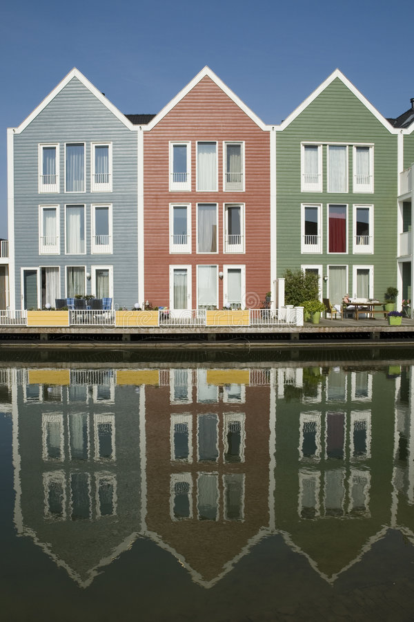 Colored wooden houses. With caribbean look royalty free stock images