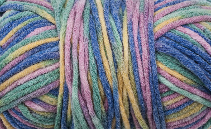 Colored Wool Background stock photography