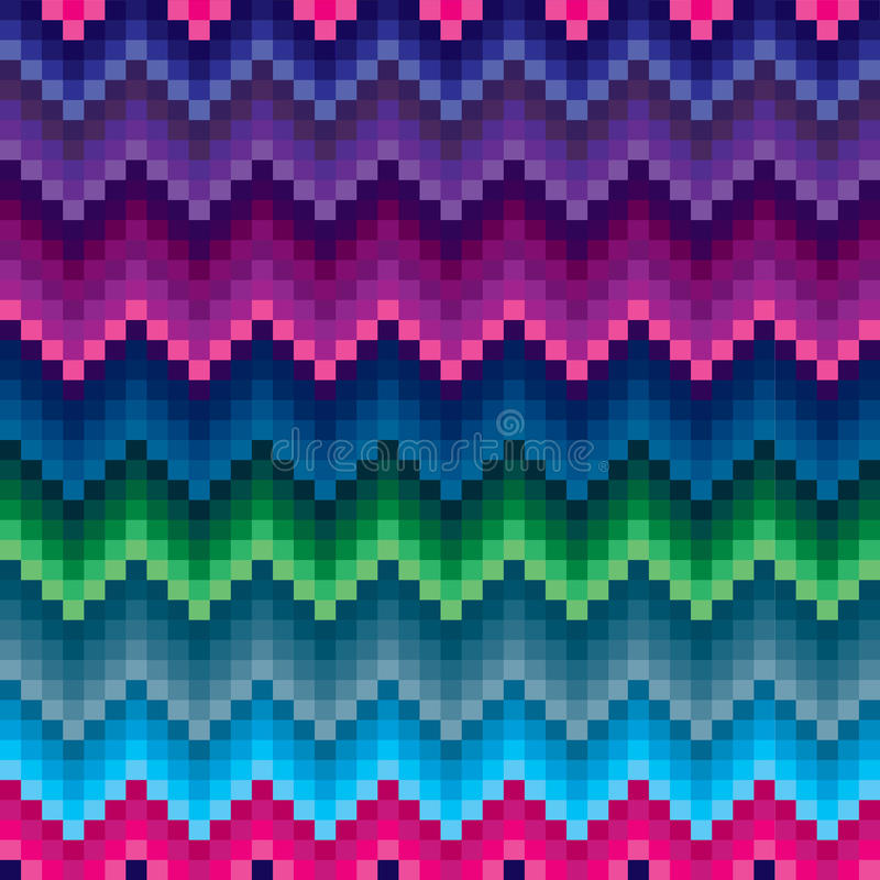 Colored zigzag seamless pattern. Ethnic colored zigzag seamless pattern royalty free illustration