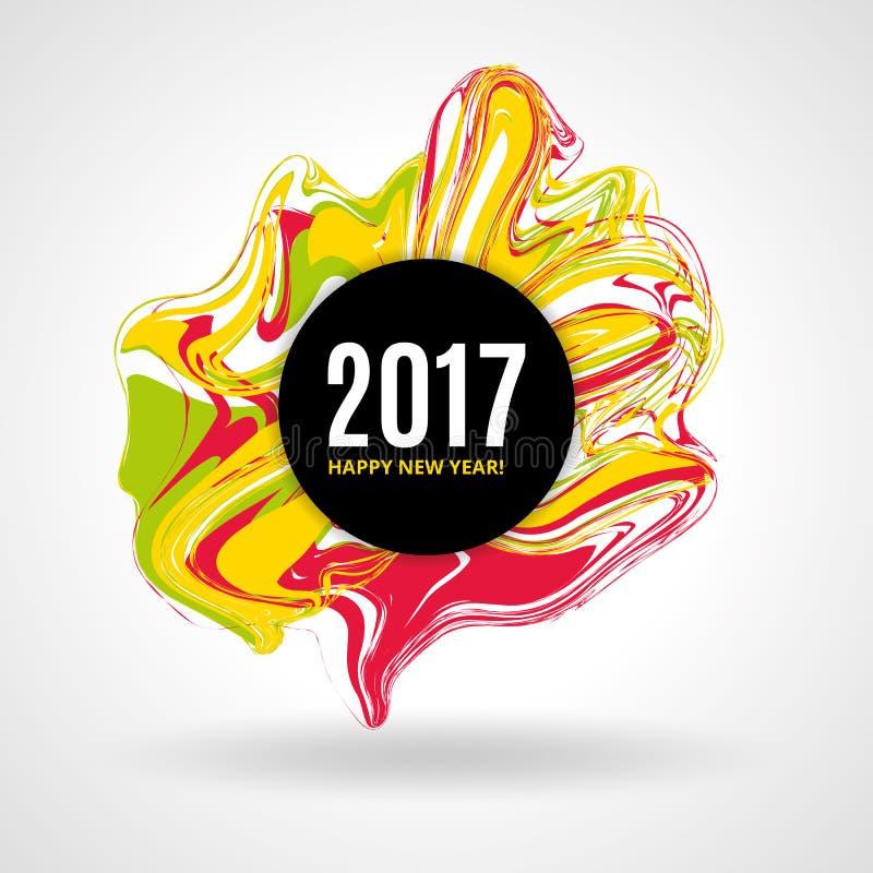 Coloree el Año Nuevo de mármol libre illustration