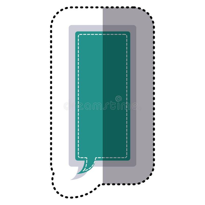 coloree el diálogo grande del reclamo del marco del rectángulo de la etiqueta engomada libre illustration