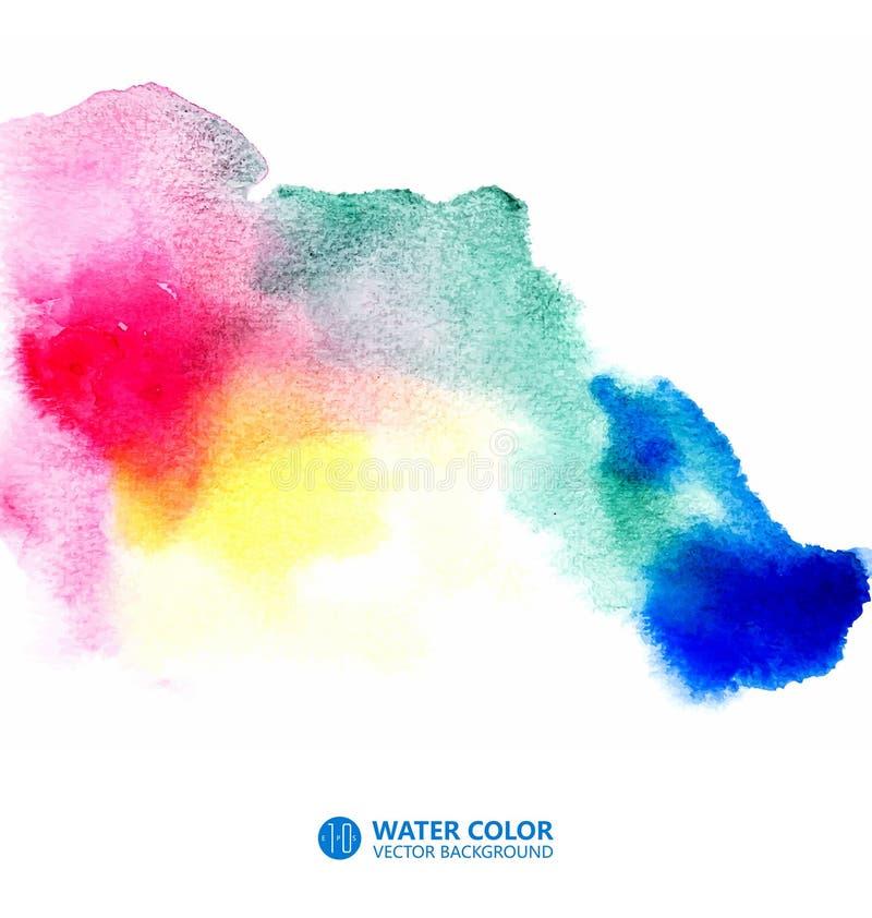 Coloree el fondo, efecto de la textura del color, efecto de la imagen del efecto de la acuarela, trabajos pintados a mano libre illustration