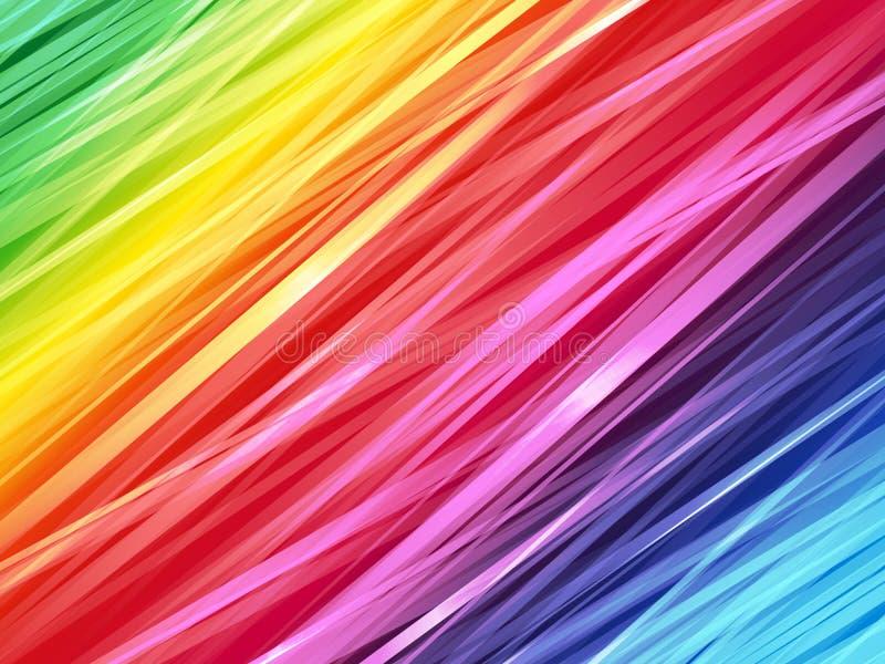 Coloree el fondo rayado arco iris ilustración del vector