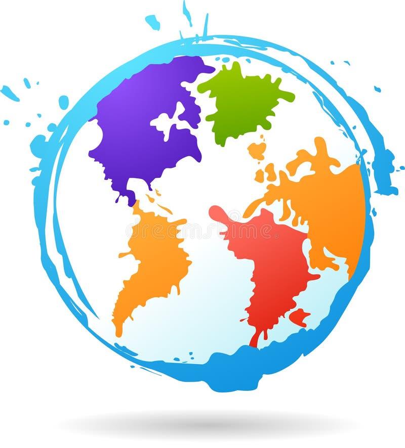 Coloree el glob stock de ilustración