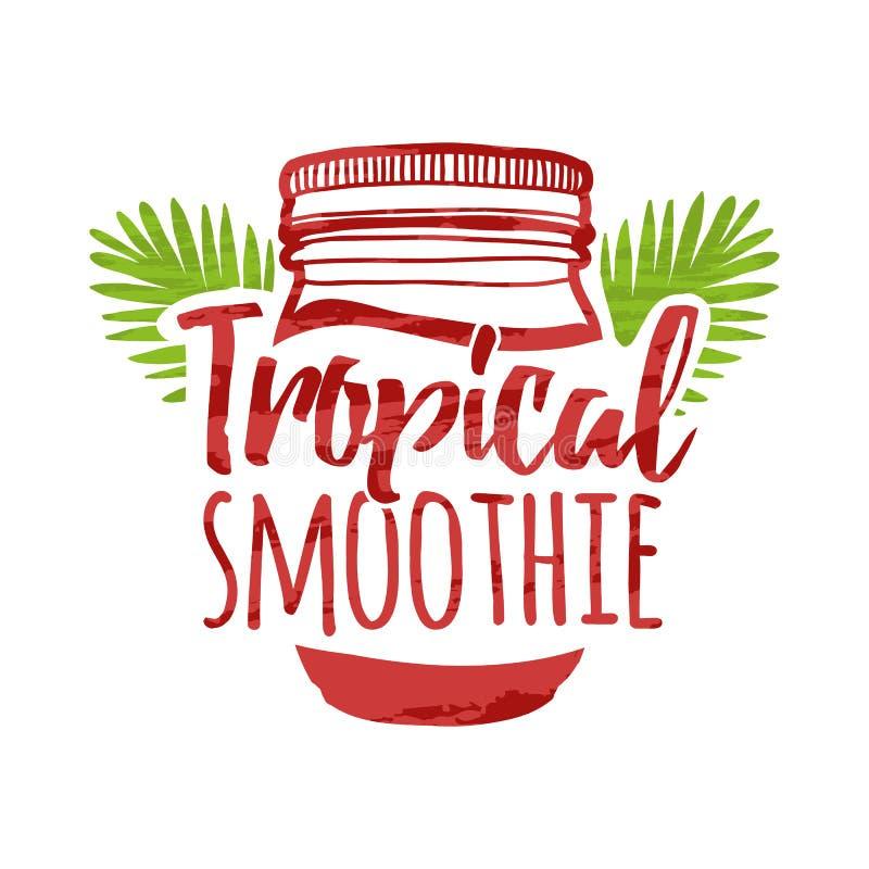 Coloree el logotipo para las barras, restaurantes, cafés Diseño de la muestra para una barra del smoothie Símbolo para el smoothi libre illustration